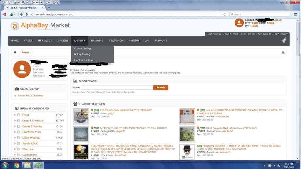 AlphaBay darknet market