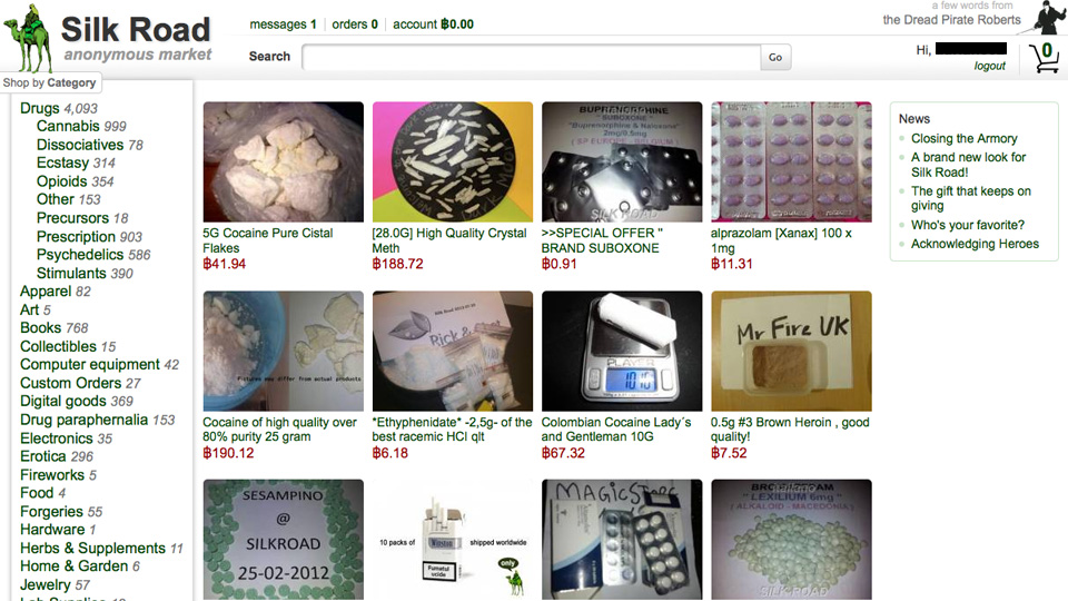 Silk Road darknet market