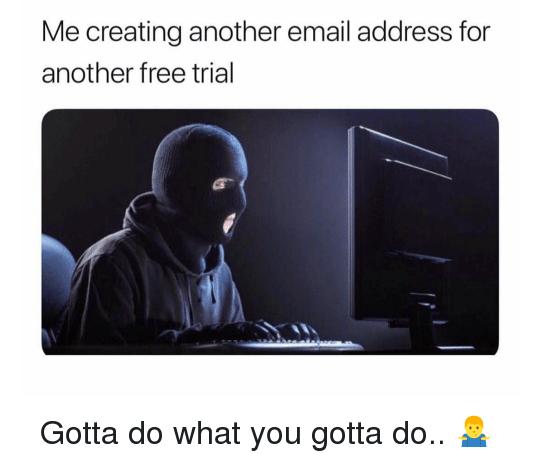 free trial meme